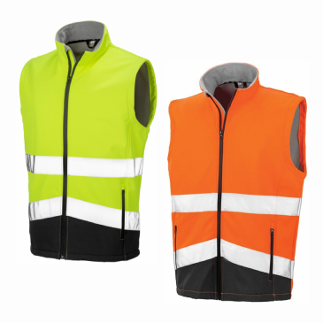 Result Safe-Guard Printable Safety Hi Vis Soft Shell Gilet RS451